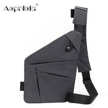 Bolsa de viagem masculina fino bolsa de ombro à prova de burglarproof cartão muti-bolso coldre anti roubo segurança cinta de armazenamento digital sacos de peito