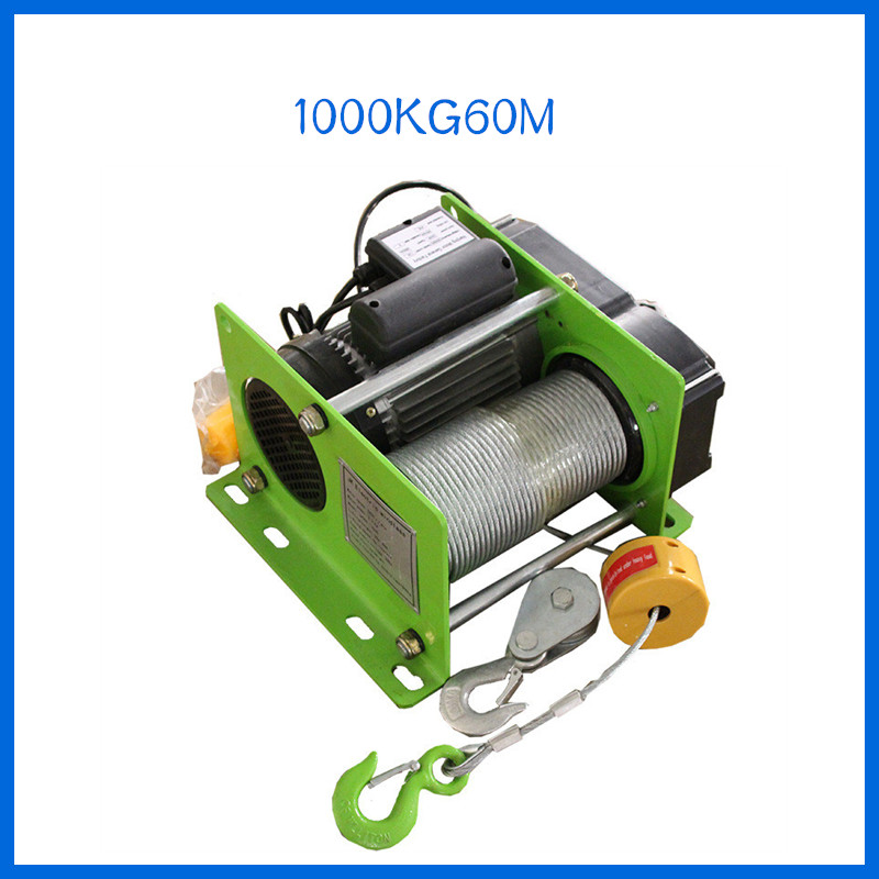 1000KG 30M/60M Small Wire Rope Hoist Mini Electric Hoist Small Hoist For Decoration Of Household Buildings