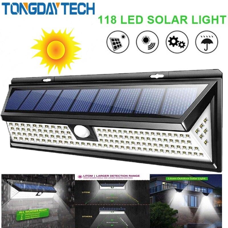 Permalink to Solar Light 118 LED PIR Motion Sensor Lamp Outdoor IP65 Waterproof Solar Garden Lights Emergency Security Light Solar Wall Lamp