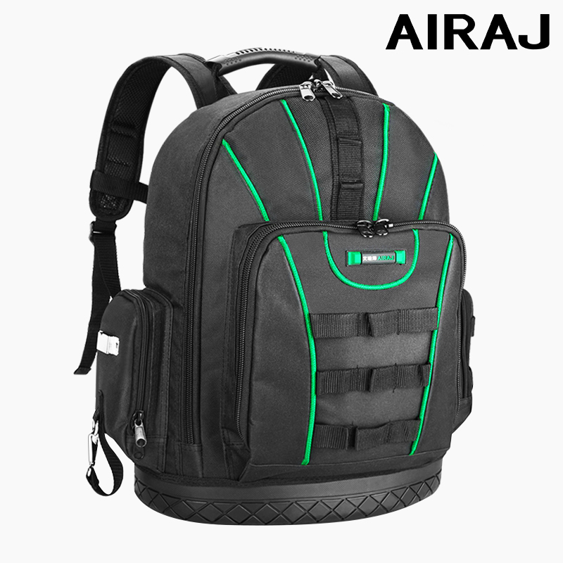 AIRAJ Multi-function Tool Backpack Tool Bag 16 In/18 In Shoulder Large Capacity Electrician Bag Multi-tool Storage Bag