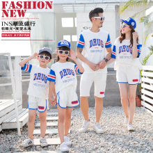 купить summer dress 2019 family matching clothes mommy and me family look matching outfits mom and son matching clothes brother sister в интернет-магазине