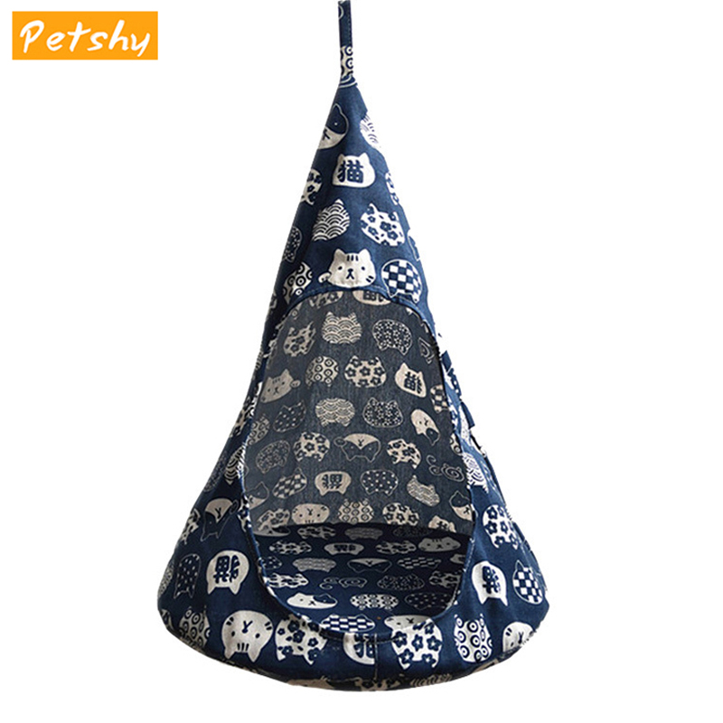 Petshy Cat Hammock Bed House Pet Kitten Puppy Tent Cushion Pad Small Dog Cats Hanging Cage Cat Mat Nest Sofa Pet Supplies Kennel