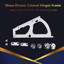3 Types 1 Pair Shoes Drawer Cabinet Hinges Frame  Movable Turning Rack Fittings