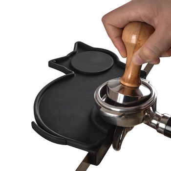 Siliconen Espresso Aanstampen Mat, creatieve Kat Vorm Stroef en Voedsel-Veilig Koffie Sabotage Pad te Beschermen Uw Werkblad