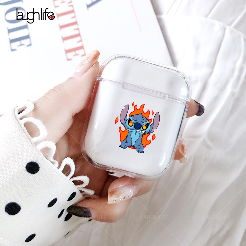 For Airpods 2 Case Silicone Stitch Cartoon Cover For Apple Air Pods Cute Earphone Case Soft Clear Headphone Case For Accessories