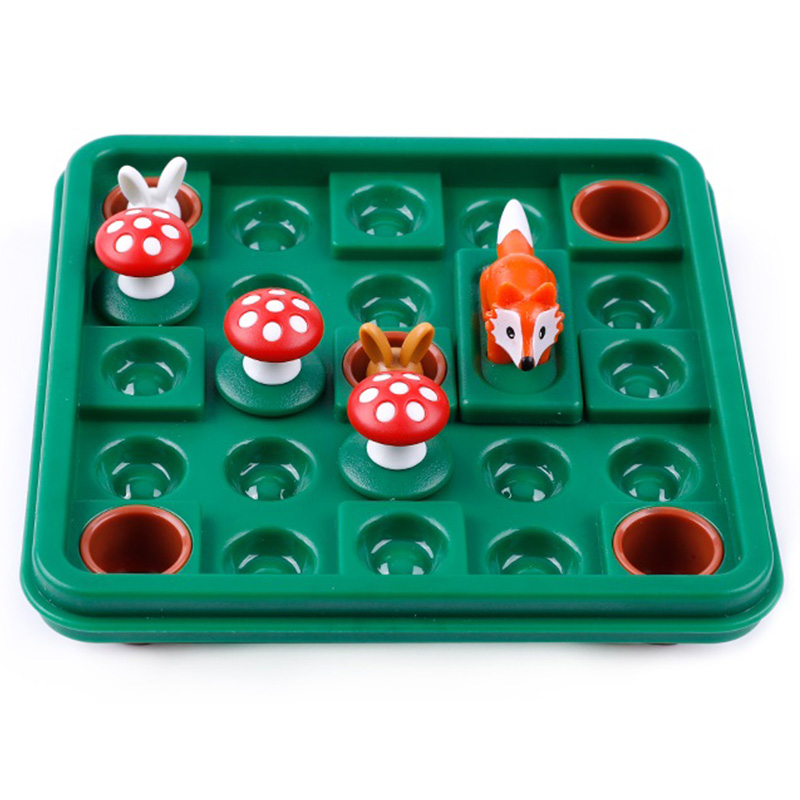 Funny Rabbit And Fox Early Education Educational Toys Logic Space Thinking Reasoning Family Party Game