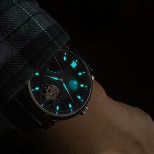 Image 4 - סופר BGW9 זוהר ידיים Tourbillon גברים שעון מקורי ST8001 לוח שנה ירח שלב Tourbillon גברים של שעונים מכאניים תנין