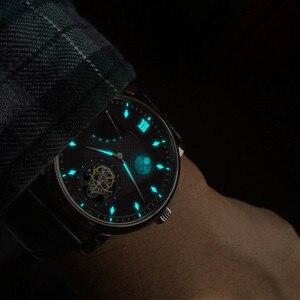 Image 4 - Super BGW9 montre mécanique pour hommes à Tourbillon mains lumineuses, Original, ST8001 calendrier, Phase lunaire, Tourbillon, Alligator