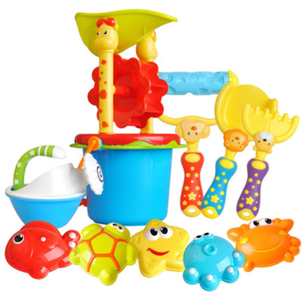 Enfants sable verre seau bouilloire forme animale appareil de meulage pelle forme plage jouet