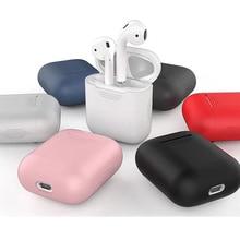Etui na słuchawki do Apple AirPods 2 silikonowe pokrywa bezprzewodowa słuchawki z Bluetooth ochronne etui do AirPods AirPod futerał silikonowy