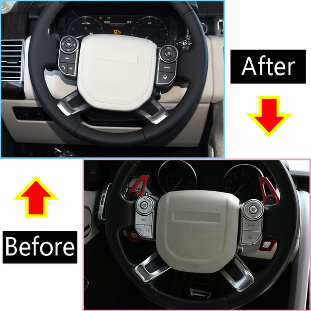 Accesorios de ajuste de parche de protección de botón de volante Interior de coche para Land Rover Discovery 5 Range Rover Sport Vogue