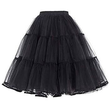 Women Petticoat Under Dress 60CM Length Bridal Party Waist Size for 60-100CM Adjust  Summer Crinoline No Hoop - discount item  5% OFF Wedding Accessories
