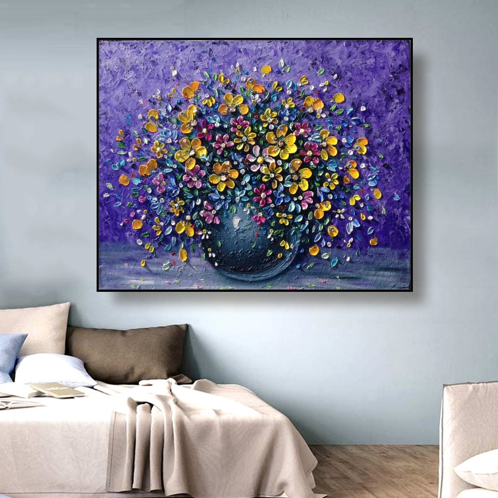 Wall Art Abstract Flower Canvas Painting & Calligraphy Wall Art Picture Oil Painting Home Decor Retro Posters and Prints Vintage