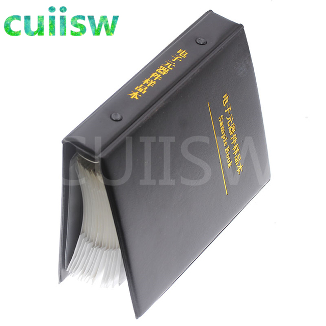 0402 SMD Capacitor Sample Book 80valuesX50pcs=4000pcs 0.5PF~1UF Capacitor Assortment Kit Pack 6