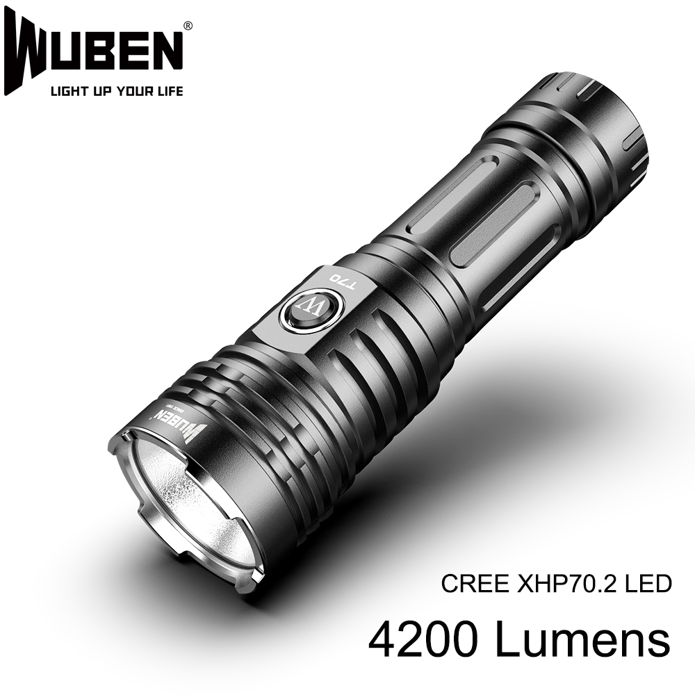 Super Powerful Led Flashlight CREE XHP70 LED High Power 4200lm Lamp Torch 26650 Battery Waterproof Light For Outdoor Camping