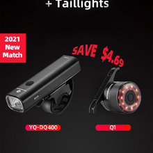 Bike-Light Bicycle-Handlebar Front-Lamp Cycling ROCKBROS Rode Rechargeable 400LM USB