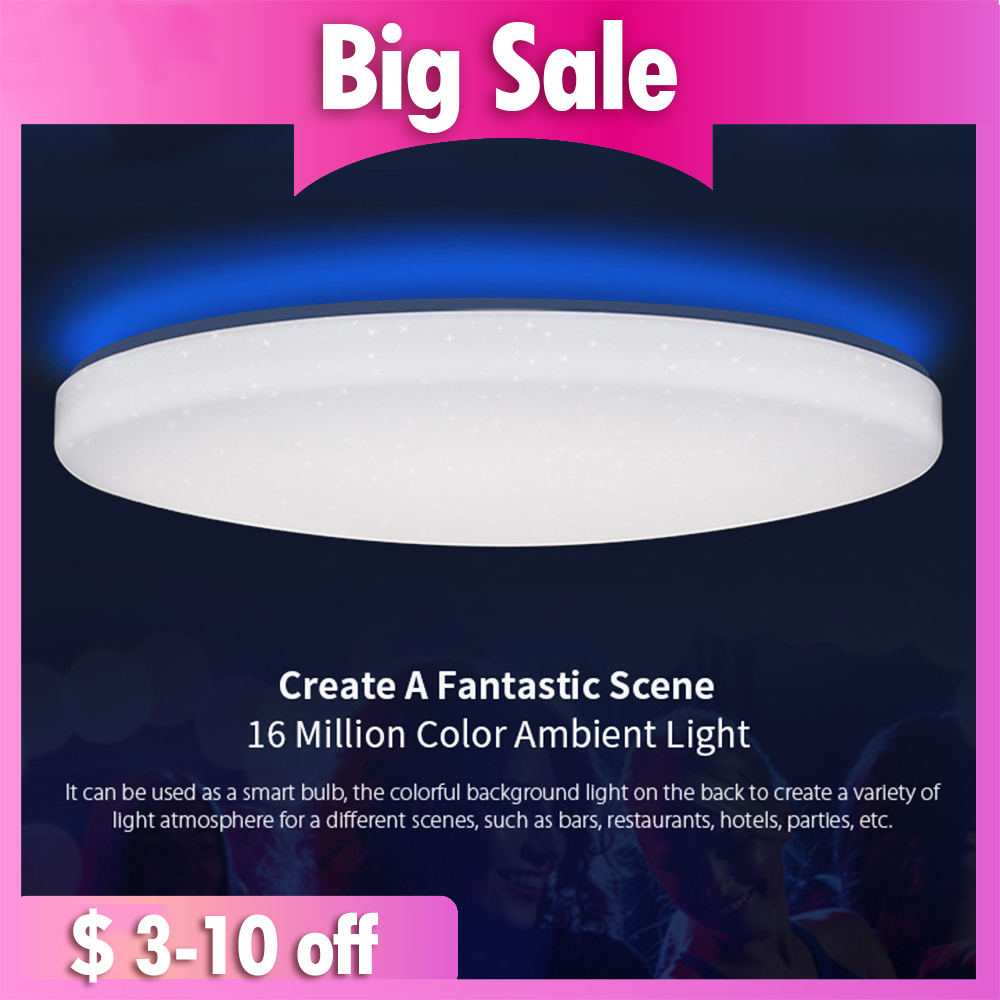 Yeelight JIAOYUE 650 LED Smart Ceiling Light WiFi Bluetooth APP Control With RGB Ambient Lamp 50W Support Alexa Google Home