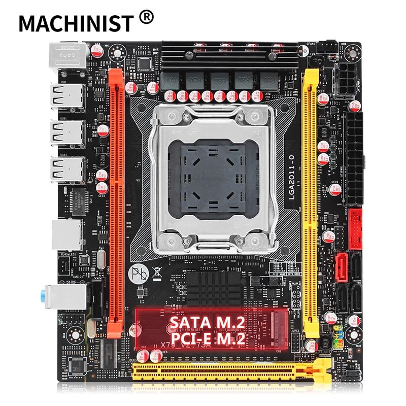 X79 motherboard LGA 2011 USB2.0 SATA3 Dual protocol m.2 support DDR3 REG ECC memory and Xeon E5 V1 V2 processor X79 V2.73 1