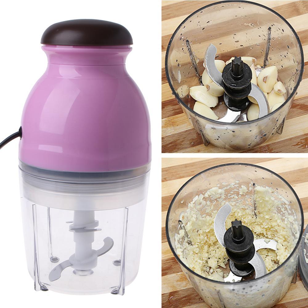 Mini Electric Meat Grinder Food Processor Vegetable Fruit Blender Chopper 600ml EU Plug