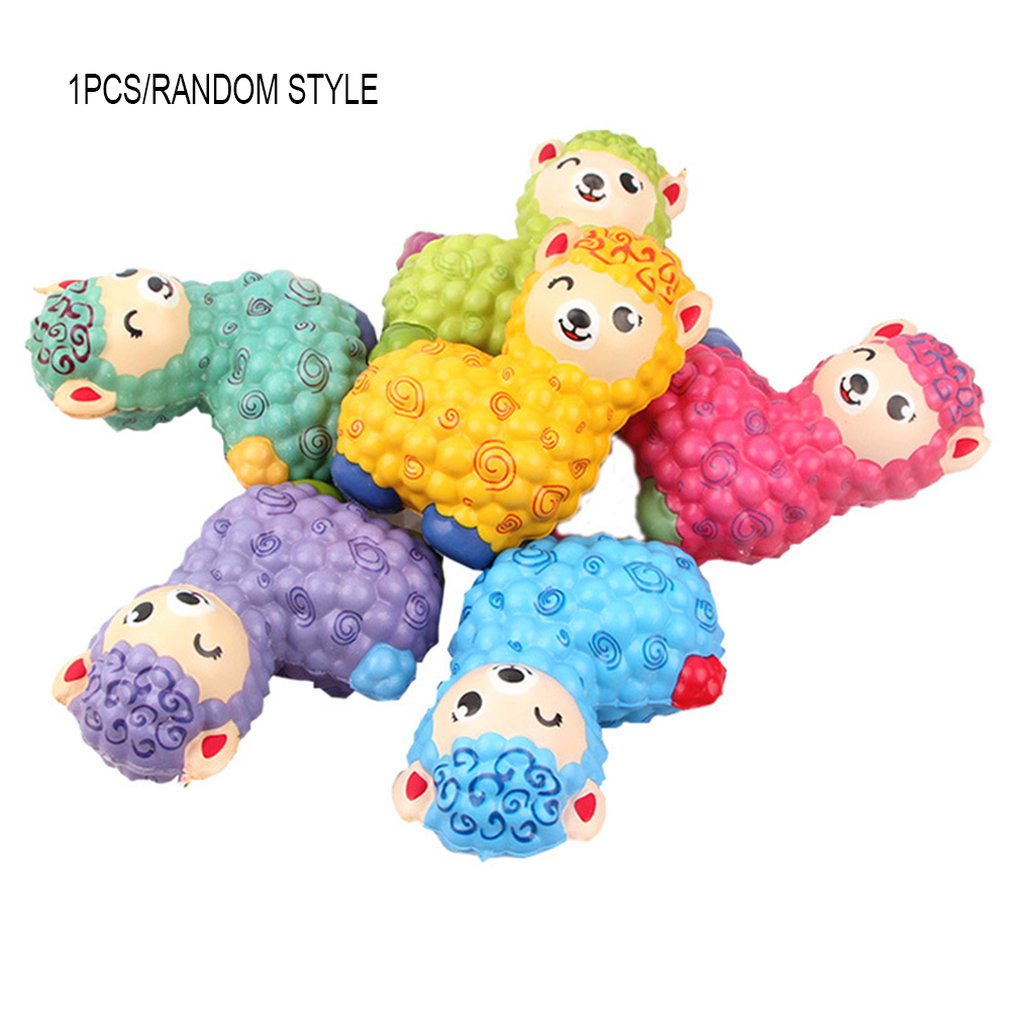 Simulated Cartoon Mini Alpaca Toy Decoration Slow Rebound Decompression Toy Foam Relaxed Toy Cake Sample Model