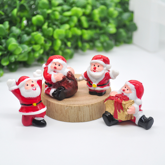 2020 Miniature Christmas Tree Santa Snowman Decoration Gift Miniature Garden Fairy Tale Character Home Table Decoration 3