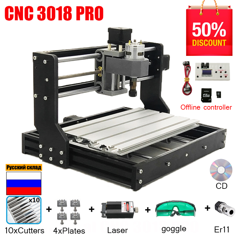 Laser Engraver Wood Cnc 3018 Mini GRBL DIY PRO ER11 For PCB PVC Hobby