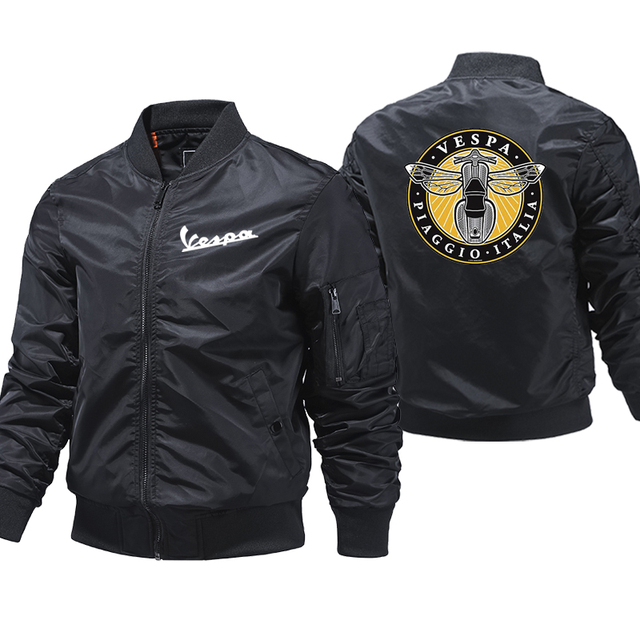Vespa Jacket Mens Clothes streetwear mens bomber Jackets And Coat ropa hombre 5XL Large Size Clothes Thick aviator Jackets 1