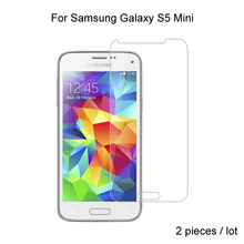2pcs Premium Tempered Glass For Samsung Galaxy S5 Mini Protective Tempered Glass Screen Protector For Samsung S5 mini Glass protective tpu pc bumper frame for samsung galaxy s5 mini green