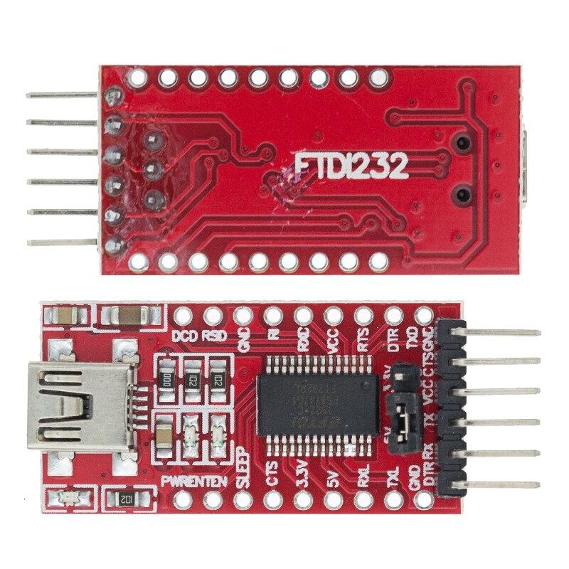 Адаптер FT232RL FT232 FTDI USB к TTL 5 в 3,3 В, кабель для скачивания в модуль последовательного адаптера для Arduino USB к 232