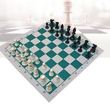 Juego educativo principiante de viaje para niños, Draughts Backgammon enrolladas, torneo de adultos, tablero de ajedrez profesional de cuero PU