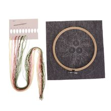 European Flowers DIY Embroidery Ribbon Set With Frame For Be