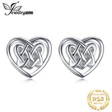 JewelryPalace 925 Sterling Silver Caged Hearts Celtic Love Stud Earrings New Hot Sale For Women As Beautiful Gifts