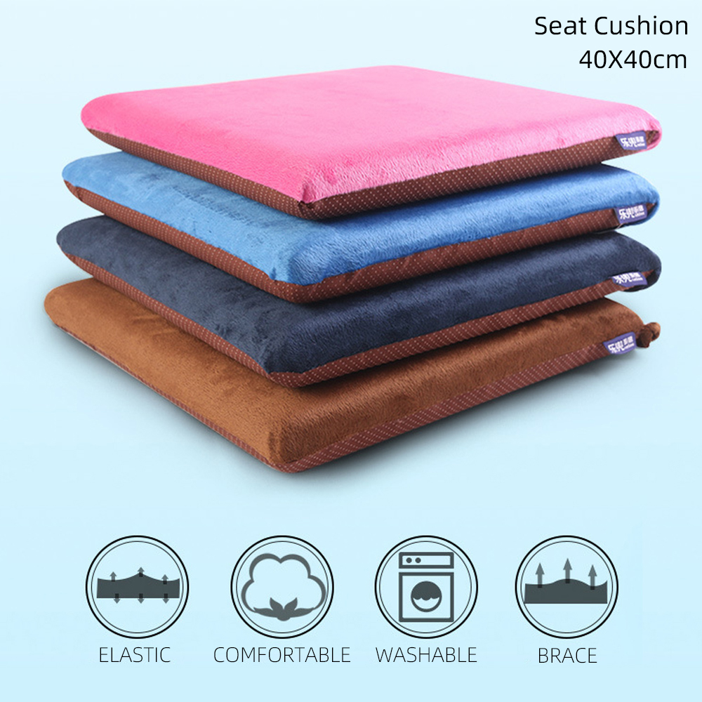 DIDIHOU 40x40x4cm Square Memory Foam Chair Seat Cushion Honeycomb Anti-slip Back Chair / Seat Cushions
