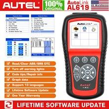 Autel AL519 AL619 skaner OBD2 narzędzie diagnostyczne skaner kodów samochodowych autotriz ABS, skaner samochodowy skaner SRS