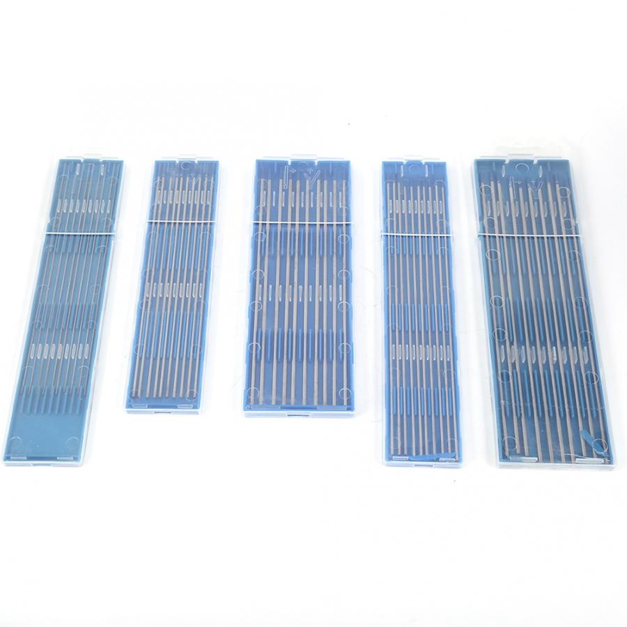 Tungsten Electrode Professional 10pcs Tungsten Welding Electrodes Lanthanated Electrode Blue Tip  1.0/1.6/2.4mm Tungstens
