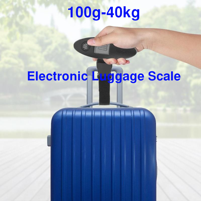 100g-40kg Digital Electronic Luggage Scale LCD Display Travel Handheld Weight Luggage Scale Weight Balance Pocket Scales 88Lb