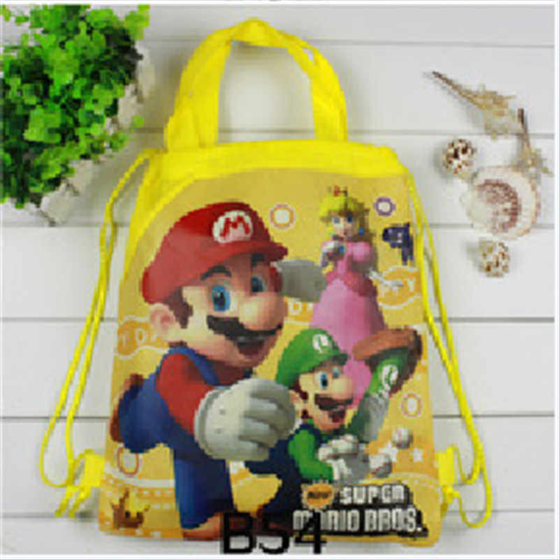 سوبر ماريو بروس حقيبة التخزين رائجة البيع عالية الجودة ماريو بروس ألعاب شخصيات الحركة الكرتون ثلاثية الأبعاد الطباعة حقيبة التخزين لعيد الميلاد