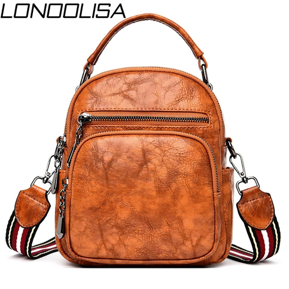 3 In 1 Women Leather Travel Small Backpack Female Bagpack Back Pack Ladies Hand Shoulder Bags For Women 2019 Mochila Feminina