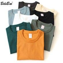 BOLUBAO marca uomo T-Shirt tinta unita estate uomo cotone o-collo T-Shirt manica corta T-Shirt Casual Casual di alta qualità uomo