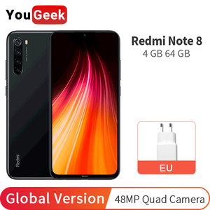 Global Version Xiaomi Redmi Note 8 4GB 64GB Note8 Mobile Phone Snapdragon 665 Octa Core 48MP Quad Cameras 6.3