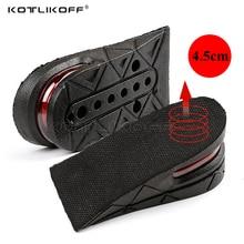 KOTLIKOFF غير مرئية نعل لزيادة الطول قابل للتعديل 2 طبقة 3 سنتيمتر/4.5 سنتيمتر وسادة هوائية منصات مصعد باطن النعال إدراج للأحذية