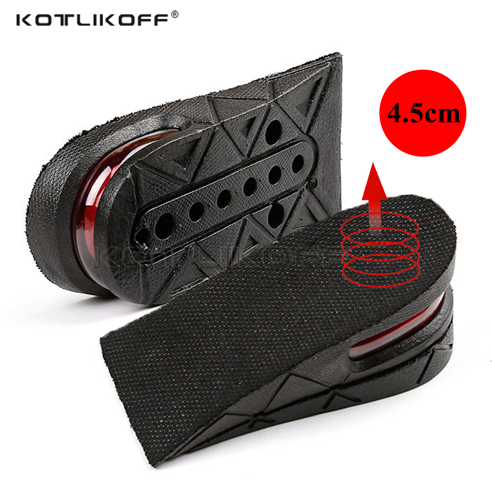 KOTLIKOFF Invisible Height Increase Insole Adjustable 2 Layer 3CM/4.5CM Air Cushion Pads Elevator Soles Insoles Inserts For Shoe