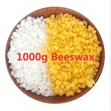 1000g czysty naturalny wosk pszczeli świece woskowe akcesoria do rękodzieła 100% bez dodatku wosk sojowy szminka DIY materiał żółty i biały wosk pszczeli