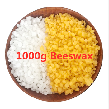 1000g Pure Natural Beeswax Wax Candles Making Supplies 100% No Added Soy Wax Lipstick DIY Material yellow and white beeswax high qualit 1000g pack 100% pure soy wax for candle making diy candle material flake candle wax smokeless waxed diy candles