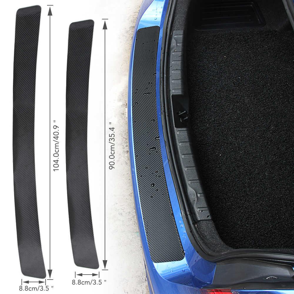 ألياف الكربون سيارة الجذع الخلفي ملصقات للسيارة متعددة الأشكال لكيا ريو K2 K3 K3S K5 K4 KX3 KX5 سيراتو الروح فورتي سبورتاج سورينتو