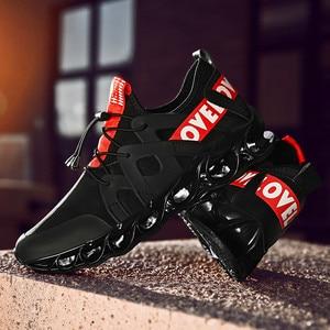 Image 2 - Zapatos deportivos de malla cómodos para hombre, calzado informal con absorción de impacto, zapatos de entrenamiento transpirables, zapatos de malla con cordones