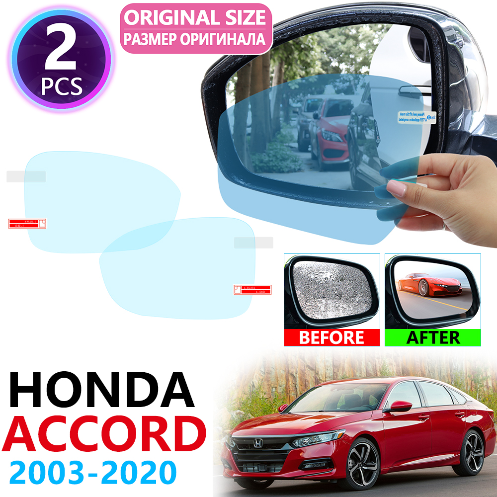 for <font><b>Honda</b></font> <font><b>Accord</b></font> 7 <font><b>8</b></font> 9 10 2003~2020 Full Cover Rearview Mirror Anti-Fog Rainproof Anti Fog Film Accessories 2008 2010 2018 2019 image