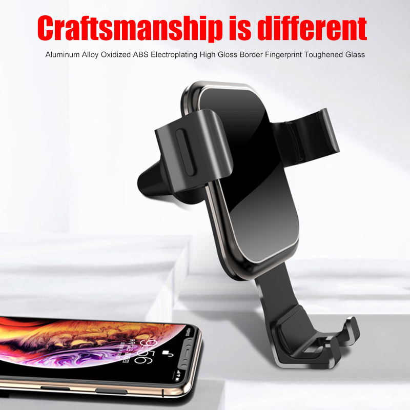 Gravity Car Phone Holder Air Vent Car Mount Tempered Glass Holder for Smartphone @JH