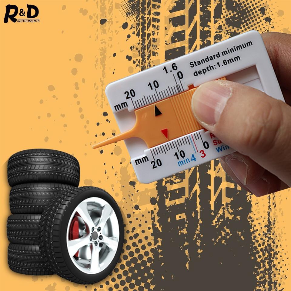 0-20mm Car Tire Depth Gauge Tyre Tread Depthometer Depth Indicator Gauge Gage Motorcycle Trailer Van Wheel Measure Tool