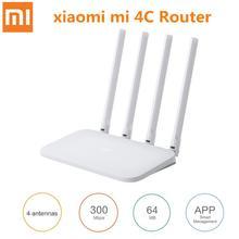 شياو mi mi موزع إنترنت واي فاي 4C Roteador APP التحكم 64 RAM 802.11 b/g/n 2.4G 300 150mbps 4 هوائيات الموجهات اللاسلكية مكرر للمنزل
